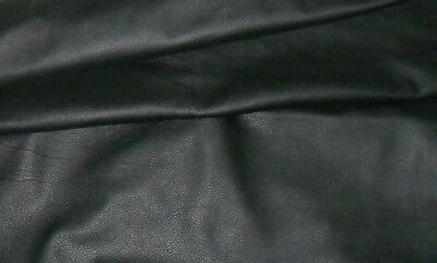 Genuine Black Soft Cow Leather Hide / Skin  Various Sizes FREE UK SHIPPING