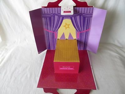 NEW AMERICAN GIRL Fashion Show Paper Doll Play Set Show Souvenir #4751