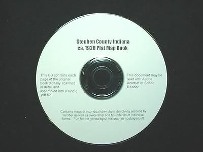 CD ~ 1930's Steuben County Indiana Plat Map Book