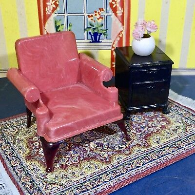 IDEAL TOYS LIVING ROOM CHAIR & RADIO Vintage Dollhouse Furniture 1 ...