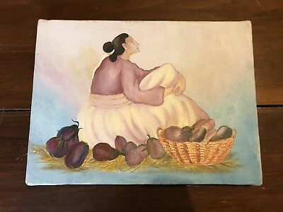 Native American Navajo Oil on Canvas Painting