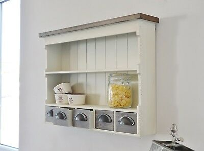 Wandregal shabby chic regal wandschrank vintage schrank antik eur 56 99 picclick de - Wandregal landhausstil ...