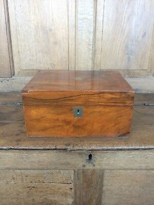 Antique Rosewood Writing Slope with Velvet Pad A/F