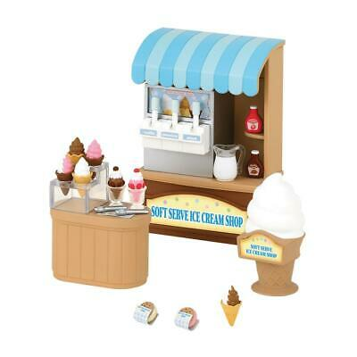 Sylvanian Families Soft Ice Cream Shop 'Ice Bar' Stand Van Figure H 7.3 cm 2811
