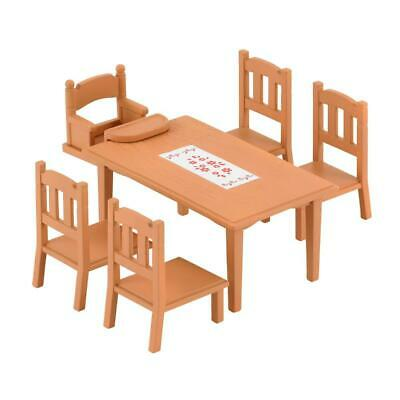Sylvanian Families Dining Table Set Blackboard Dining Room Furniture Accessory