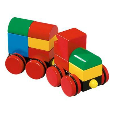 BRIO MAGNETIC WOOD Train, 11-Part, Building Blocks, Wooden Bricks, Toys,  Railway