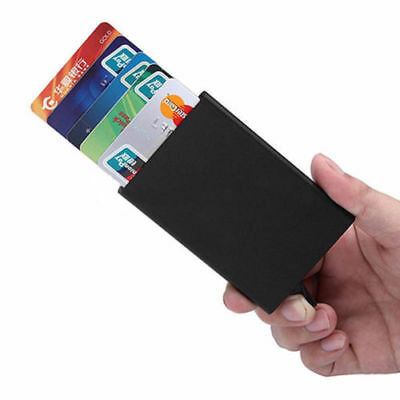Metal ID Credit Card Holder RFID Protector Aluminum Mens Womens Wallet Card Case