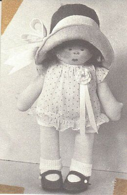 Sewing Pattern is to make  fabric rag doll GINGER designed by Rainie Crawford