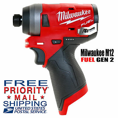 """NEW Milwaukee M12 FUEL Brushless 1/4"""" Hex Impact Driver 2553-20 GEN2 (Bare Tool)"""