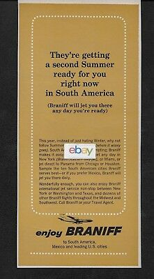 Braniff International 1964 A Second Summer Is Ready For You In South America Ad