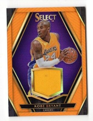 Kobe Bryant Nba 2015-16 Select Swatches Prizms Orange #/60 (Los Angeles Lakers)