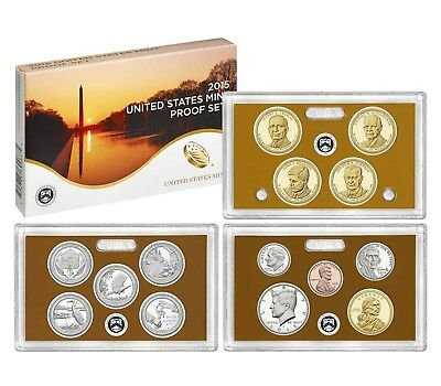 2015 S U.S. Mint Clad Proof set (14) coins with Native American & Quarters