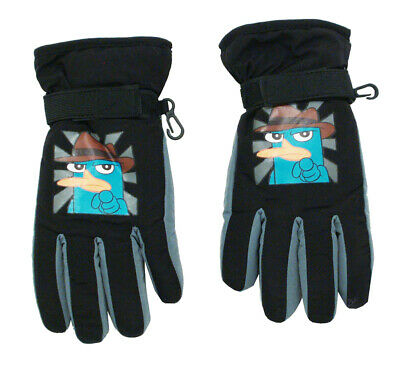Phineas And Ferb Perry The Platypus Agent P Kids Winter Gloves