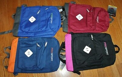 ProSport School Backpack Book Bag Travel Bag Multi Pockets -Choice Color -NWT