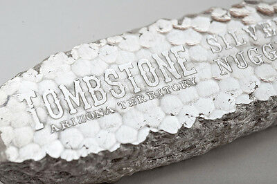 10~Oz ~ Pure .999 Silver ~ Tombstone ~ Silver  Nugget  Bar ~  $248.88  ~ Awesome