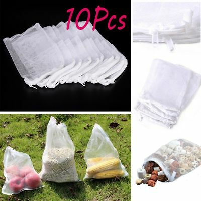 10Pcs  7Types Mesh Bag Foods Grain Container Filter Media Pocket Net Pouch