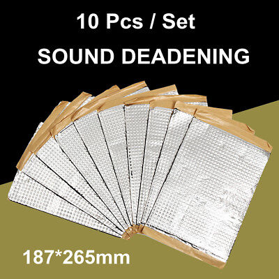 10 Sheets 187x265mm Car Van Sound Proofing Deadening Insulation Foam Damping Mat