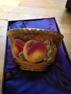 A ROYAL WORCESTER Fruit bowl hand painted by Paul Stanley 7mm High ...