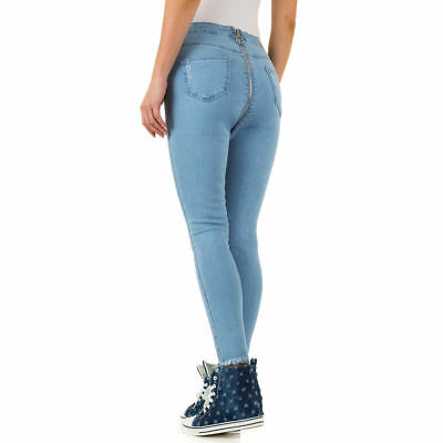 HIGH WAIST SKINNY DAMEN JEANS 42/XL Blau 0295 0€
