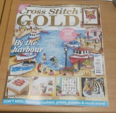 Cross Stitch Gold magazine #147 2018 Harbour, Tiger, Butterfly Fairy, Flamingo