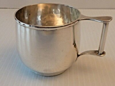 "Arthur Stone Sterling Silver Child's Cup W/ Greco-Roman Form Handle, ""carol"""