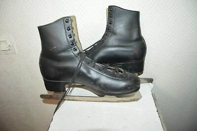 Patin A Glace Patinage Alviera   Ice Skate Taille 44   Vintage