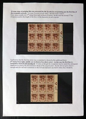 BURMA G.VI Showing Printing Stage with Varieties As Described BC531