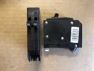 Square D QOT 1 pole twin 20 amp QO2020 Circuit Breaker QOT2020 W / hook FLAWED