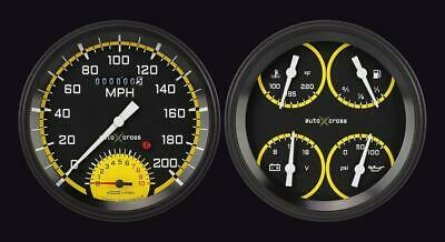 1954-1955 Chevrolet Chevy Truck Direct Fit Gauge Auto Cross Yellow CT54AXY62