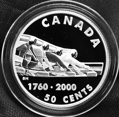 Curling - 2000 Canada 50 cent Proof Sterling Silver Coin