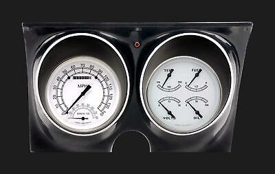 1967 1968 Chevy Camaro Direct Fit Gauges Classic Instruments White CAM67CW