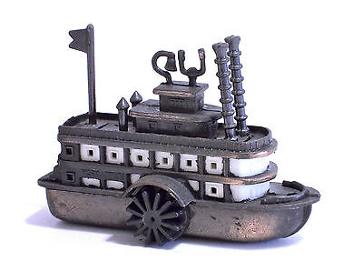 Temperamatite Vintage In Metallo Pencil Sharpener Ship, Boat, Battello