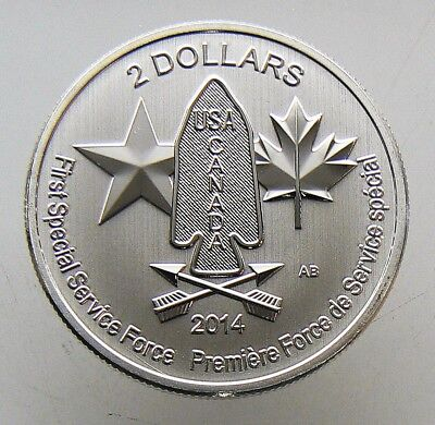 2014 Canada 1/2 oz Silver $2 Devil's Brigade First Special Services Force BU