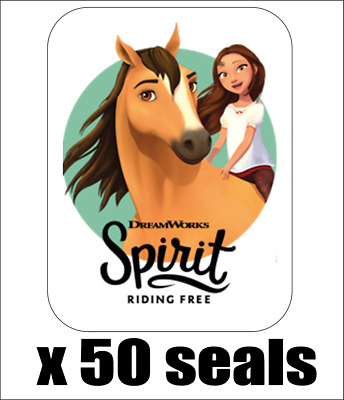 "50 Spirit Riding Free Envelope Seals / Labels / Stickers, 1"" by 1.5"""