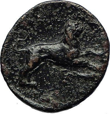 LYSIMACHOS 323BC Authentic Ancient Greek Coin ALEXANDER the GREAT & LION i69532