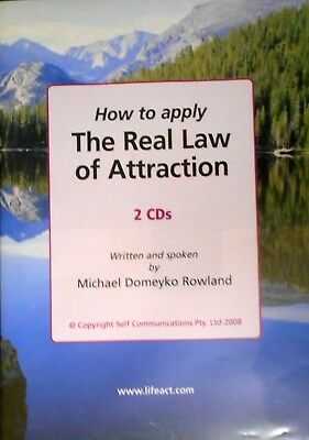 Aust MICHAEL DOMEYKO ROWLAND-THE REAL LAW OF ATTRACTION, HOW TO APPLY  2 CD Set