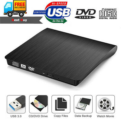 External USB 3.0 CD ROM DVD RW Optical Drive Burner Reader Player For Laptop PC