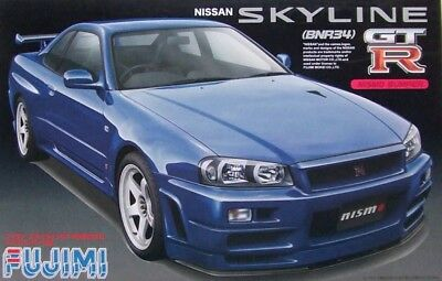 Fujimi ID-64 1/24 Scale Model Sport Car Kit Nissan Skyline GT-R R34 Nismo BNR34
