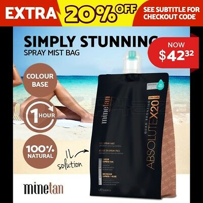 MineTan Professional Spray Tan Solution Sunless Tanning Extreme Ash 1 Litre