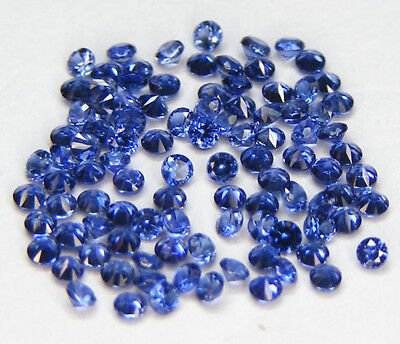 10 Pcs. 1,7 Mm. Machine Cut Saphir Ceylan Bleu Corindon De Synthese