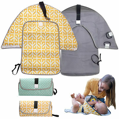 3-in-1 Baby Changing Mat Hat Case Clean Hands Pad Diaper Clutch Station Holder