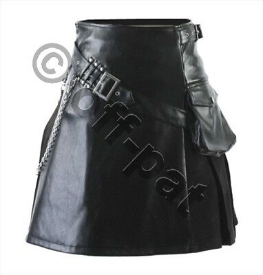 "REDUCED Mans Heavyweight Real Leather & Suede Utility Kilt 30"" (76.2cm) Waist"