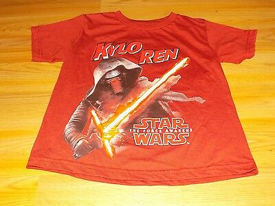 Boy's Size Small 6-7 Disney Star Wars The Force Awakens Kylo Ren T Shirt Top New