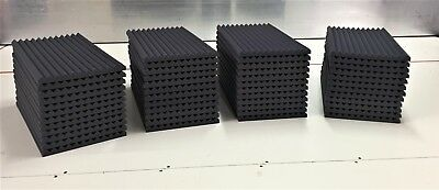 "Acoustic Studio Soundproofing Foam Panels Wedge/Pyramid 48 Tiles 24""x 12""x 1"""