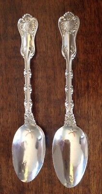 """2 Sterling Silver Teaspoons Whiting Mfg. Co. """"Imperial Queen""""  No Mono 1893"""