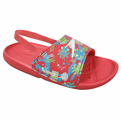Speedo Sea Squad Girl's Slider Flip Flop Sandals Summer Beach Pool Holiday Pink