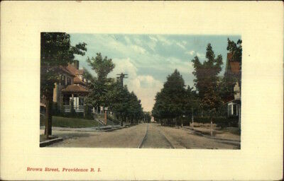 Providence RI Brown St. c1910 Postcard