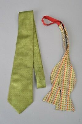 Jim Thompson Silk Tie and Turnbull & Asser Silk Bow Tie. Ref FSP