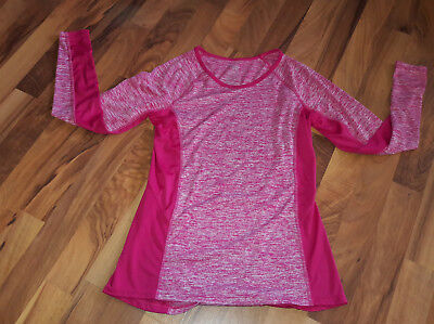 a5f6bd0d670 Danskin Now Womens S 4/6 Fitted Tunic Pink White Jogger Active T-shirt