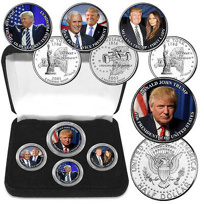 Donald Trump Elected 45th President Colorized Coin Collection